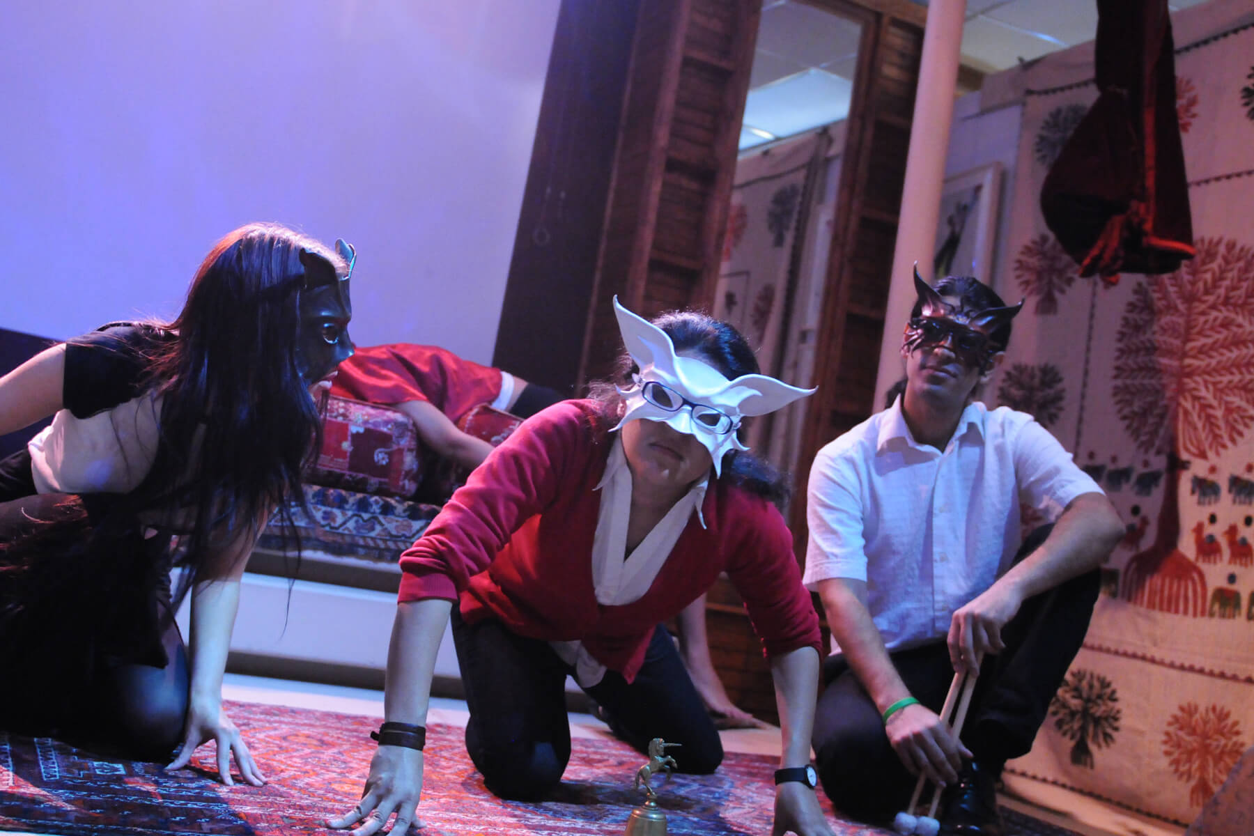 """Boston Experimental Theatre """"Shahnameh"""" at the Touch Art Gallery."""