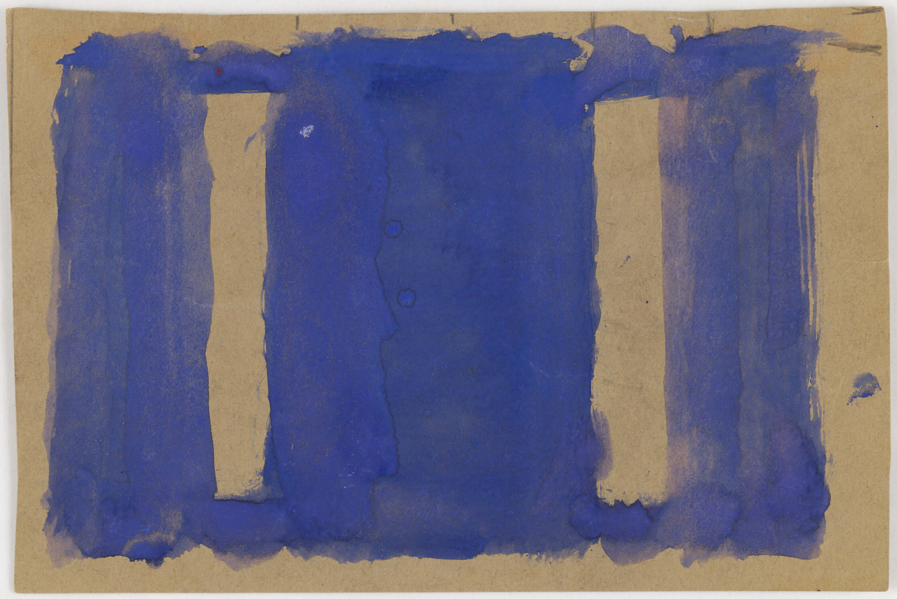 Mark Rothko, Untitled (Study for Harvard Mural), c. 1961, opaque watercolor on pale green construction paper. Harvard Art Museums/Fogg Museum, Gift of The Mark Rothko Foundation, Inc., 1986.627. © 2009 Kate Rothko Prizel and Christopher Rothko/ Artists Rights Society (ARS), New York. Photo: Harvard Art Museums, © President and Fellows of Harvard College.
