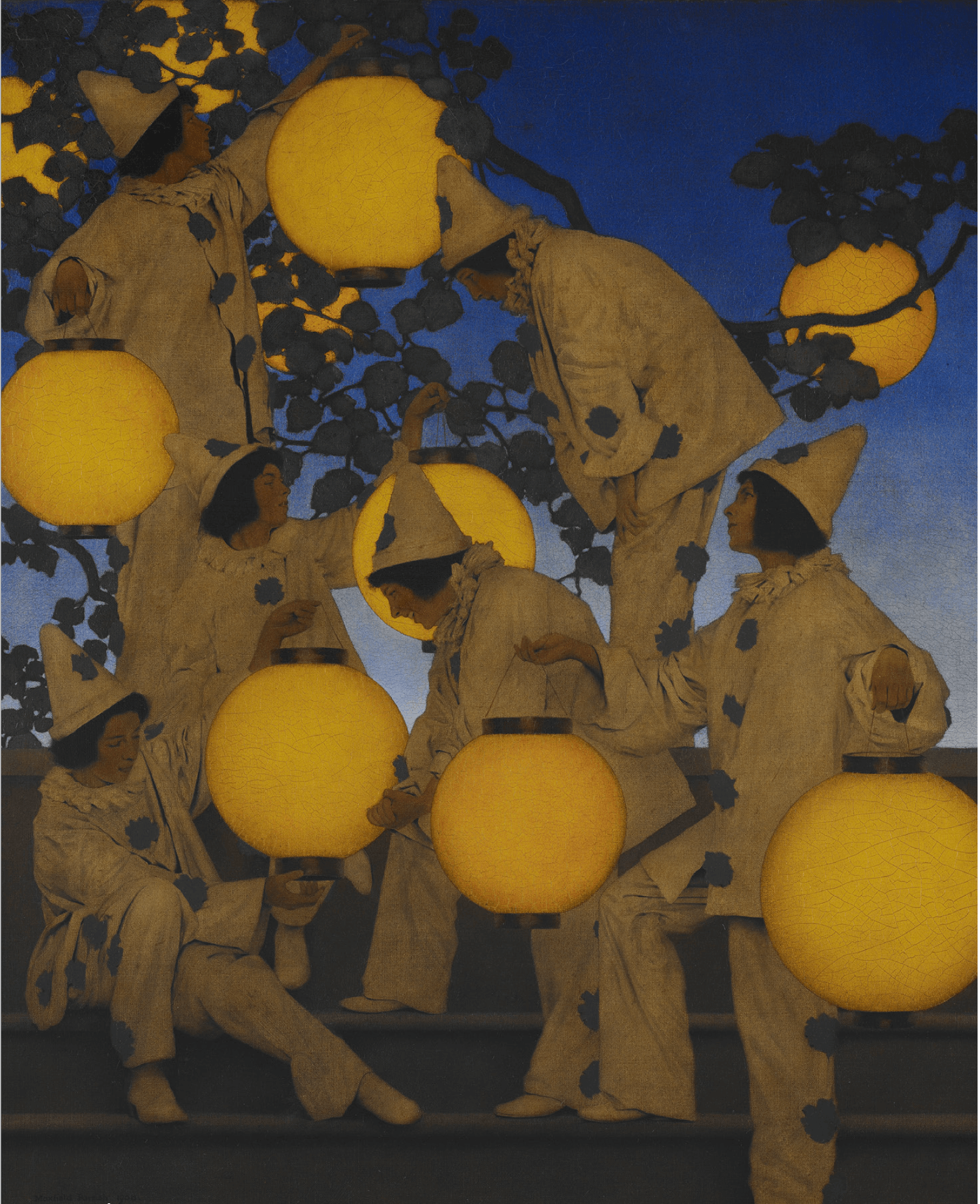 "Maxfield Parrish (American, 1870-1966), The Lantern Bearers, 1908, oil on canvas, 40"" x 32"" (Crystal Bridges Museum of American Art, Bentonville, Arkansas; Photography by Dwight Primiano)."