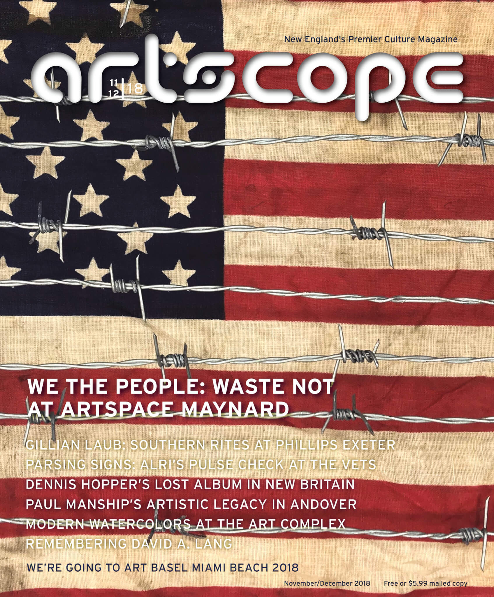 Artscope Magazine Issue 77 - November/December 2018