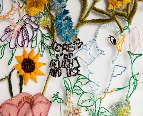 DALE'S STATE OF BECOMING: BALANCING SCULPTURE & EMBROIDERIES IN GROTON